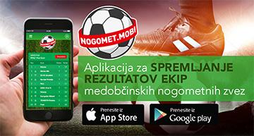 Oglas za Nogomet.mobi aplikacijo